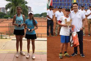 Camila García y Joe Sarria tenistas